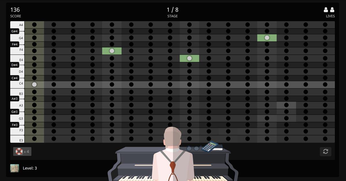 Melodix ear training game