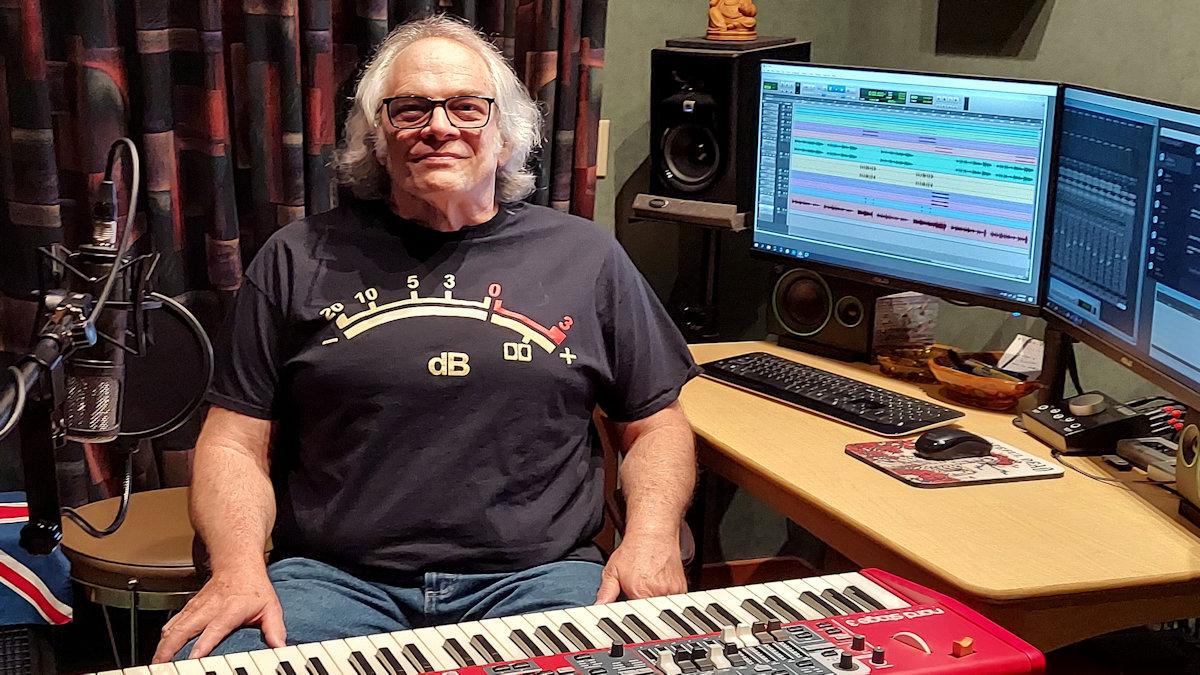 Colin Aiken in the studio