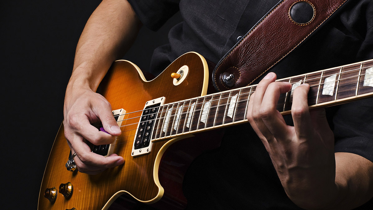 playing chords on guitar